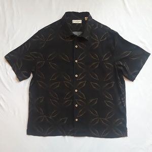 Mens Caribbean Silk Blend Black with Brown Palms